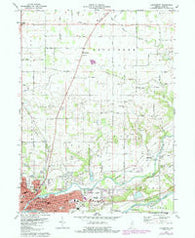Logansport Indiana Historical topographic map, 1:24000 scale, 7.5 X 7.5 Minute, Year 1972