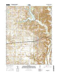 Loogootee Indiana Current topographic map, 1:24000 scale, 7.5 X 7.5 Minute, Year 2016
