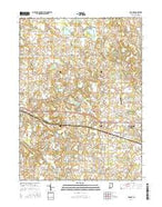 Lorane Indiana Current topographic map, 1:24000 scale, 7.5 X 7.5 Minute, Year 2016 from Indiana Map Store