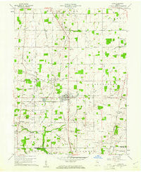 Lynn Indiana Historical topographic map, 1:24000 scale, 7.5 X 7.5 Minute, Year 1960