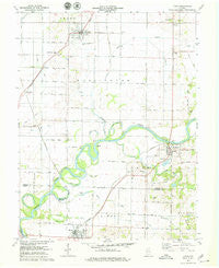 Lyons Indiana Historical topographic map, 1:24000 scale, 7.5 X 7.5 Minute, Year 1978