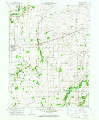 Manilla Indiana Historical topographic map, 1:24000 scale, 7.5 X 7.5 Minute, Year 1960