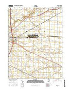 Maples Indiana Current topographic map, 1:24000 scale, 7.5 X 7.5 Minute, Year 2016 from Indiana Map Store