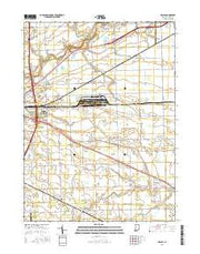 Maples Indiana Current topographic map, 1:24000 scale, 7.5 X 7.5 Minute, Year 2016 from Indiana Maps Store