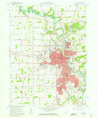 Marion Indiana Historical topographic map, 1:24000 scale, 7.5 X 7.5 Minute, Year 1961