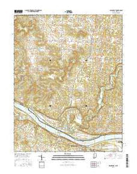 Mauckport Indiana Current topographic map, 1:24000 scale, 7.5 X 7.5 Minute, Year 2016