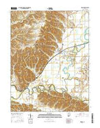 Medora Indiana Current topographic map, 1:24000 scale, 7.5 X 7.5 Minute, Year 2016 from Indiana Map Store