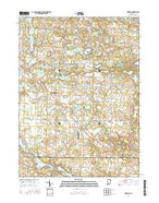 Merriam Indiana Current topographic map, 1:24000 scale, 7.5 X 7.5 Minute, Year 2016 from Indiana Map Store