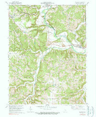 Metamora Indiana Historical topographic map, 1:24000 scale, 7.5 X 7.5 Minute, Year 1972