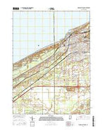 Michigan City West Indiana Current topographic map, 1:24000 scale, 7.5 X 7.5 Minute, Year 2016 from Indiana Map Store