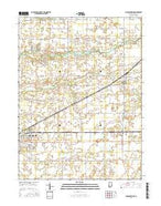 Michigantown Indiana Current topographic map, 1:24000 scale, 7.5 X 7.5 Minute, Year 2016 from Indiana Map Store