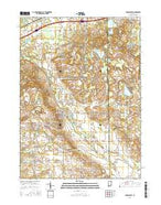 Middlebury Indiana Current topographic map, 1:24000 scale, 7.5 X 7.5 Minute, Year 2016 from Indiana Map Store