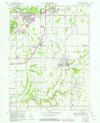 Middletown Indiana Historical topographic map, 1:24000 scale, 7.5 X 7.5 Minute, Year 1960