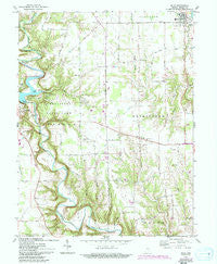 Milan Indiana Historical topographic map, 1:24000 scale, 7.5 X 7.5 Minute, Year 1961