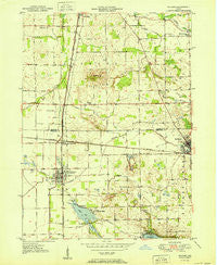 Milford Indiana Historical topographic map, 1:24000 scale, 7.5 X 7.5 Minute, Year 1951