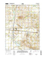 Milford Indiana Current topographic map, 1:24000 scale, 7.5 X 7.5 Minute, Year 2016 from Indiana Map Store