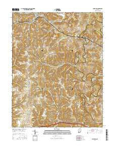 Milltown Indiana Current topographic map, 1:24000 scale, 7.5 X 7.5 Minute, Year 2016