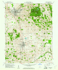 Mitchell Indiana Historical topographic map, 1:24000 scale, 7.5 X 7.5 Minute, Year 1960