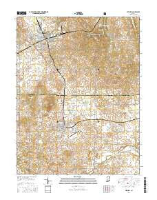 Mitchell Indiana Current topographic map, 1:24000 scale, 7.5 X 7.5 Minute, Year 2016
