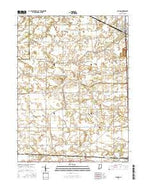 Monon Indiana Current topographic map, 1:24000 scale, 7.5 X 7.5 Minute, Year 2016 from Indiana Map Store