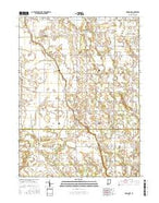 Monon NE Indiana Current topographic map, 1:24000 scale, 7.5 X 7.5 Minute, Year 2016 from Indiana Map Store