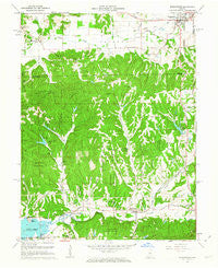 Morgantown Indiana Historical topographic map, 1:24000 scale, 7.5 X 7.5 Minute, Year 1961