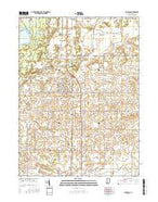 Morocco Indiana Current topographic map, 1:24000 scale, 7.5 X 7.5 Minute, Year 2016 from Indiana Map Store