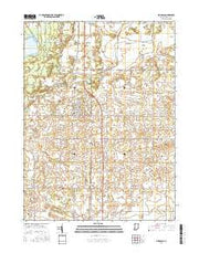 Morocco Indiana Current topographic map, 1:24000 scale, 7.5 X 7.5 Minute, Year 2016 from Indiana Maps Store