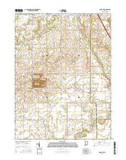Mount Ayr Indiana Current topographic map, 1:24000 scale, 7.5 X 7.5 Minute, Year 2016 from Indiana Maps Store