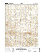 Mount Gilboa Indiana Current topographic map, 1:24000 scale, 7.5 X 7.5 Minute, Year 2016 from Indiana Map Store