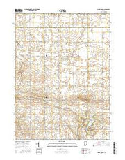Mount Gilboa Indiana Current topographic map, 1:24000 scale, 7.5 X 7.5 Minute, Year 2016 from Indiana Maps Store