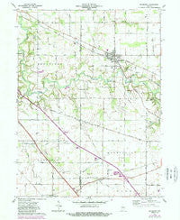 Mulberry Indiana Historical topographic map, 1:24000 scale, 7.5 X 7.5 Minute, Year 1961