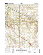 Mulberry Indiana Current topographic map, 1:24000 scale, 7.5 X 7.5 Minute, Year 2016 from Indiana Map Store
