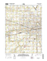 Muncie West Indiana Current topographic map, 1:24000 scale, 7.5 X 7.5 Minute, Year 2016