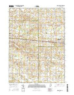 Nappanee West Indiana Current topographic map, 1:24000 scale, 7.5 X 7.5 Minute, Year 2016 from Indiana Map Store