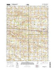Nappanee West Indiana Current topographic map, 1:24000 scale, 7.5 X 7.5 Minute, Year 2016 from Indiana Maps Store