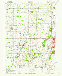 New Castle West Indiana Historical topographic map, 1:24000 scale, 7.5 X 7.5 Minute, Year 1960