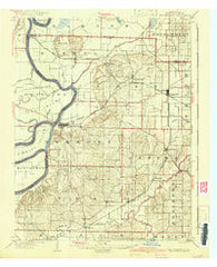 New Harmony Indiana Historical topographic map, 1:62500 scale, 15 X 15 Minute, Year 1903