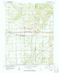 New Point Indiana Historical topographic map, 1:24000 scale, 7.5 X 7.5 Minute, Year 1961