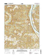 New Amsterdam Indiana Current topographic map, 1:24000 scale, 7.5 X 7.5 Minute, Year 2016 from Indiana Map Store