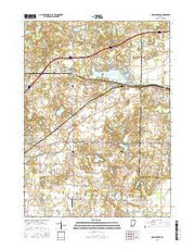 New Carlisle Indiana Current topographic map, 1:24000 scale, 7.5 X 7.5 Minute, Year 2016 from Indiana Maps Store