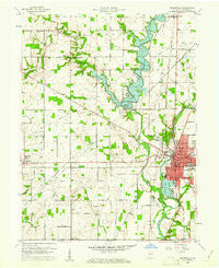 Noblesville Indiana Historical topographic map, 1:24000 scale, 7.5 X 7.5 Minute, Year 1960