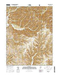 Norman Indiana Current topographic map, 1:24000 scale, 7.5 X 7.5 Minute, Year 2016