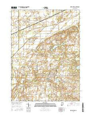 North Liberty Indiana Current topographic map, 1:24000 scale, 7.5 X 7.5 Minute, Year 2016 from Indiana Maps Store