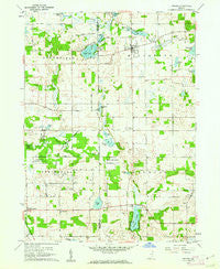 Orland Indiana Historical topographic map, 1:24000 scale, 7.5 X 7.5 Minute, Year 1960