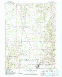 Osgood Indiana Historical topographic map, 1:24000 scale, 7.5 X 7.5 Minute, Year 1961