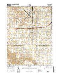Ossian Indiana Current topographic map, 1:24000 scale, 7.5 X 7.5 Minute, Year 2016