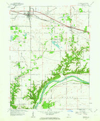 Otterbein Indiana Historical topographic map, 1:24000 scale, 7.5 X 7.5 Minute, Year 1961