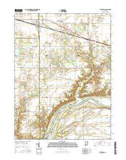 Otterbein Indiana Current topographic map, 1:24000 scale, 7.5 X 7.5 Minute, Year 2016 from Indiana Maps Store