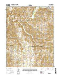 Palmyra Indiana Current topographic map, 1:24000 scale, 7.5 X 7.5 Minute, Year 2016